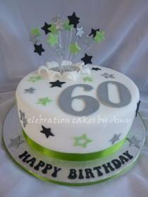 wedding photo - Male's 60th Birthday Cake — Birthday Cakes