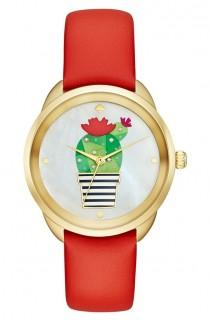 wedding photo - Kate Spade Cactus Crosstown Leather Strap Watch, 34mm