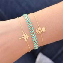 wedding photo - Majolie - Bracelet Juno Turquoise Or