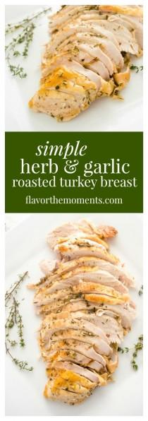 wedding photo - Simple Herb And Garlic Roasted Turkey Breast