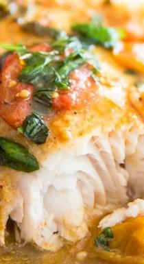 wedding photo - Easy Poached Fish In Tomato Basil Sauce