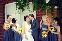 wedding photo - 17 Piece Sunflower Wedding Bouquet Set, Daisy Sunflower Bridal Bouquet, Sunflower Bouquet, Rustic Bouquet, Rustic Wedding Yellow Sunflowers