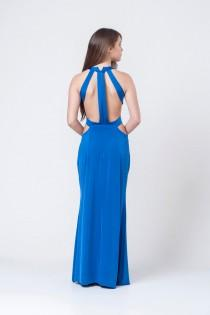 wedding photo - Royal Blue Evening Dress, Prom Dress, Bridesmaid Dress, Elegant Dress, Long Maxi Prom Dress, Open Back Dress, Floor Length Dress, Blue Dress