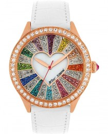 wedding photo - BetseyJohnson.com - RAINBOW CRYSTAL FACE WATCH MULTI