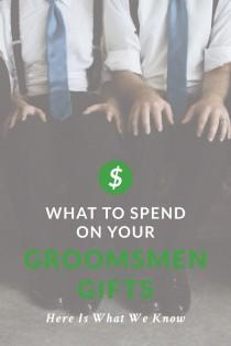 wedding photo - HOW MUCH DO I SPEND ON GROOMSMEN GIFTS? What Our Data Tells Us