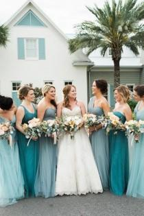 wedding photo - Turquoise Coastal-Inspired Wedding At Atlantic Beach Country Club In Atlantic Beach, FL
