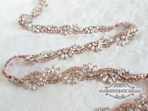 wedding photo - Thin bridal belt, Rose gold belt, rose gold bridal belt, rose gold, rose gold sash, skinny belt, Bridal belt, Wedding belt, sash belt, LILLY