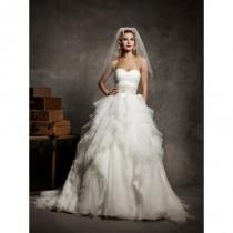 wedding photo - Einzigartiges Brautkleid mit Rüschen Organza voller Rock und Sweetheart Hals - Festliche Kleider