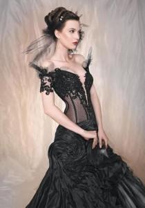 wedding photo - Sexy Gothic Corset & Lace Wedding Dress