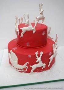 wedding photo - Sugar Sweet Cakes And Treats: Christmas Reindeer Cake