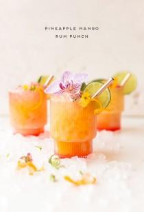 wedding photo - A Pineapple Mango Rum Punch Recipe Inspired By The Caribbean