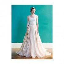 wedding photo - Carol Hannah - Spring 2013 - Kensington Draped Linen and Cotton Ball Gown Wedding Dress with Scoop Neckline - Stunning Cheap Wedding Dresses