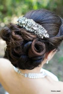 wedding photo - Ivory swarovski Pearls Bridal hair comb Pearl Rhinestone Hair Comb Bridal Pearl Rhinestone Hair Comb Wedding Rhinestone Hair Comb ROSELANI