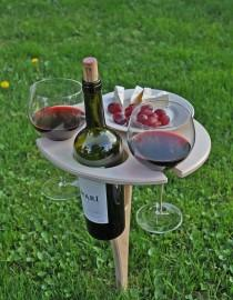 wedding photo - Outdoor Wine Table in Birch- Custom Engravings Available