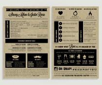 wedding photo - Infographic Wedding Program - Panel Wedding Program #00001-PRGA9