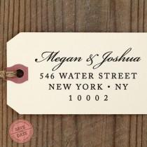 "wedding photo - CUSTOM ADDRESS STAMP - Eco Friendly & self inking return address stamp, housewarming gift, personalized stamper, rsvp address stamp ""Name83"""