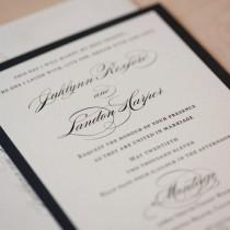 wedding photo - Elegant Wedding invitation, Classic Invitation, Romantic wedding invitation, Traditional Invitation - SAMPLE