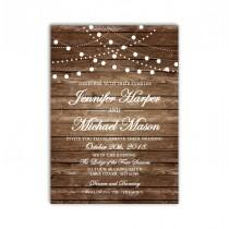 wedding photo - Rustic Wedding Invitation, Country Chic, Hanging Lights, Fall Wedding, DIY Wedding Invitation, INSTANT DOWNLOAD Microsoft Word #CL101
