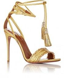 wedding photo - Aquazzura Sun Valley Ankle-Tie Sandals