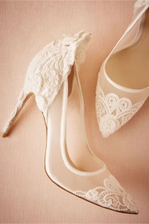 wedding photo - 60 White Bridal Shoes That Are Anything But Boring