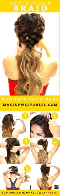 wedding photo - 20 Easy No-Heat Summer Hairstyles For Girls With Long Hair
