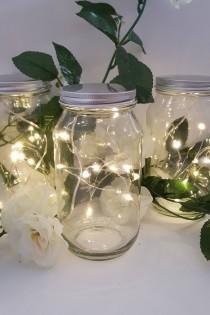 wedding photo - 5 Sets! WARM WHITE Micro Led Seed Vine Vase Lights Wedding Centerpiece Fairy Lights