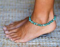 wedding photo - Turquoise Anklet // Anklet // Women Anklet // Women Ankle Bracelet // Anklet Bracelet // Beach Anklet // Oriental Anklet // Summer Jewelry