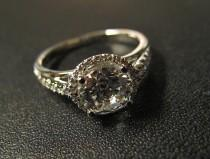 wedding photo - Classic Designer Inspired Engagement Ring, Made to Order