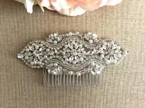 wedding photo - Bridal Hair Comb- Rhinestone and Pearl Bridal Hair Comb- Bridal Headpiece- Rhinestone Bridal Comb