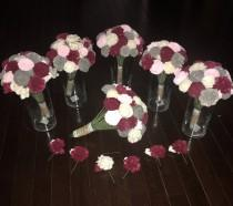 wedding photo - Custom Sola Wood Flower Wedding Bundles