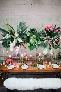 wedding photo - Stylish Tropical Wedding Inspiration In The Pacific Northwest