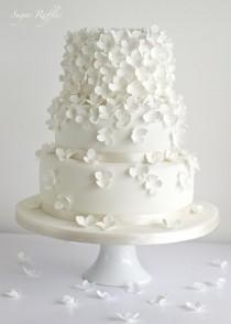 wedding photo - Wedding Cakes - Hydrangea Cascade Wedding Cake #2075659