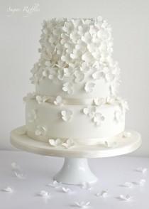 wedding photo - Wedding Cakes - Hydrangea Cascade Wedding Cake #2075659
