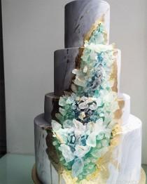 """wedding photo - Уникальные Торты С """"кристаллами"""" Внутри"""