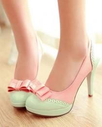 wedding photo - Details About New Women's Wedge High Heels Shoes Open Toe Sandals Ankle T-strap Pumps Bowknot