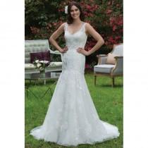 wedding photo - Style 3955 by Sincerity Bridal - Fit-n-flare Sleeveless V-neck Chapel Length SatinTulle Floor length Dress - 2017 Unique Wedding Shop