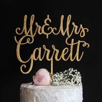 wedding photo - Custom Wedding Cake Topper with your Last Name
