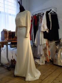 wedding photo - Bespoke Belle Epoque style silk satin gown