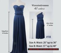 wedding photo - Navy Blue Infinity Dresses,Infinity Wrap Dress,Long Infinity Dress,Blue Dress,Convertible Dress,Infinity Dress Floor-Length