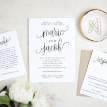 wedding photo - Printable Wedding Invitation Template