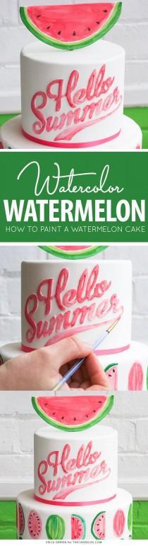 wedding photo - Watermelon Cake