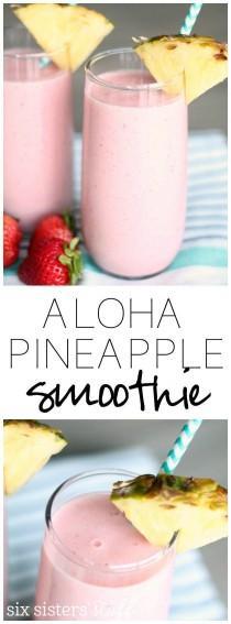 wedding photo - Copycat Jamba Juice Aloha Pineapple Smoothie