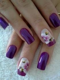 wedding photo - Nail Art With Rose Tulip Jasmine Flower Design – Womenitems.Com