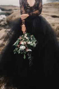 wedding photo - Moody And Romantic Coastal Elopement Inspiration