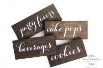 wedding photo - Dessert Table Wooden Labels
