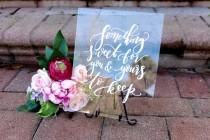 wedding photo - Wedding Favors Sign, Acrylic Wedding Sign, Custom 8x10 Calligraphy Acrylic Sign, Rustic Vintage Modern Weddings