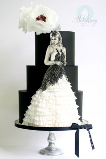 wedding photo - A Harry Potter Cake, With Ruffles And Painting - McGreevy Cakes