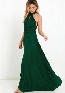 wedding photo - 20 colors, Long dresses, Infinity Dress, Dress transformer, Bridesmaid Dresses, Bridesmaid Gift, Boho dress,  Dark green dress