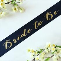 wedding photo - Bride to be sash- bride sash- bachelorette party sash