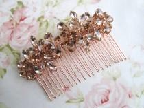 wedding photo - Rose Gold Bridal Hair Comb,Rhinestone Wedding Hair Comb,Bridal Hair Accessories,Wedding Accessories,Decorative Hair Comb,#C54